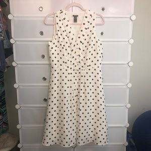 Ann Taylor • Black/white Polka Dot Dress Sz 10P
